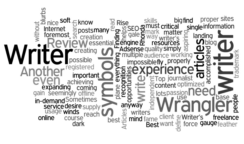 Writer tag cloud